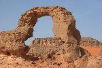 Photo paysage rocher désert du Sahara en Algérie