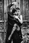 Photo noir et blanc danse couple Tango en Argentine