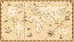 Carte du monde effet antique vintage avec noms de pays en Anglais