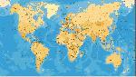 Carte du monde effet ancien vintage