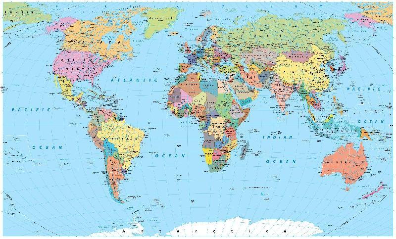 Carte Du Monde Detaille Planisphere Acheter Carte Du Monde Detaille Planisphere 56559 Affiches Et Posters Com