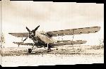 Toiles imprimées Ancien avion sur la piste de décolage