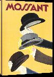Toiles imprimées Affiche ancienne chapeaux Mossant