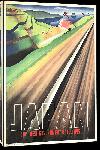 Toiles imprimées Affiche ancienne publicité Japon voie ferrovière