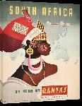 Toiles imprimées Affiche ancienne afrique du Sud Qantas