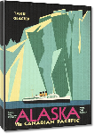 Toiles imprimées Affiche ancienne Canadian pacific alaska