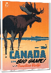 Toiles imprimées Affiche ancienne Canada for Big Game