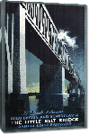 Toiles imprimées Affiche ancienne publicité A Link Between Great Britain and Scandinavia, The Little Belt Bridge, Danish State Railways