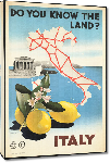 Toiles imprimées Affiche ancienne Do You Know the Land? Italy