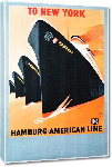 Toiles imprimées Affiche ancienne To New York, Hamburg-American Line