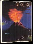 Toiles imprimées Affiche ancienne Mexico Paricutin Volcano
