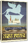 Toiles imprimées Affiche ancienne publicité London, Paris, Venice - Venice Simplon Orient Express