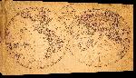 Toiles imprimées Ancienne carte du monde en 1799