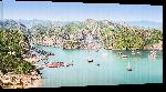 Toiles imprimées Affiche port du Viet-Nam