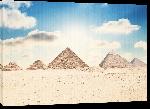 Toiles imprimées Afiche pyramide de Giza