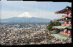 Toiles imprimées Affiche vue sur le mont Fuji
