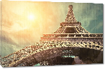 Toiles imprimées Affiche de la tour Eiffel