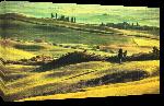 Toiles imprimées Affiche d'un paysage Toscan
