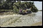 Toiles imprimées Photo bateau sur rivière Bangladesh