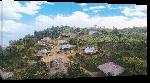 Toiles imprimées Photo village montagne au Bangladesh