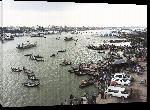 Toiles imprimées Photo port au Bangladesh