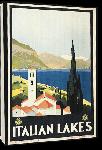 Toiles imprimées Affiche publicitaire vintage Italian Lakes