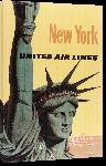 Toiles imprimées Affiche publicitaire vintage New York, United Air Line