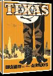 Toiles imprimées Affiche publicitaire vintage Texas, Braniff International Airways
