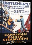 Toiles imprimées Affiche publicitaire vintage Canadian Pacific Steamships, Britishers! Bring Your Families to Canada