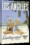 Toiles imprimées Affiche publicitaire vintage Los Angeles, Continental Air Lines