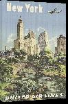 Toiles imprimées Affiche publicitaire vintage New York, United Airlines