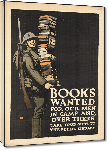 Toiles imprimées Affiche publicité vintage guerre Books Wanted for Our Men Over There