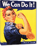 Toiles imprimées Affiche publicité vintage guerre We Can Do It! Rosie the Riveter