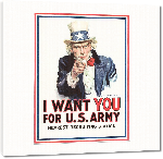 Toiles imprimées Affiche publicité vintage guerre I Want You for US Army, Nearest Recruiting Station