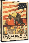 Toiles imprimées Affiche publicité vintage guerre Teamwork Wins, United State Shipping Board Emergency Fleet Corporation