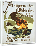 Toiles imprimées Affiche publicité vintage guerre This Happens When You Talk to Others About Ship Sailings
