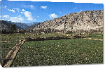 Toiles imprimées Photo rizière dans la montagne d'Afghanistan