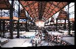 Toiles imprimées Poster photo du marché de Budapest en hongrie