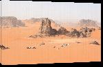 Toiles imprimées Photo paysage désert du Sahara en Algérie