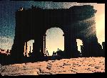 Toiles imprimées Photo couché de soleil sur Timgad en Algérie