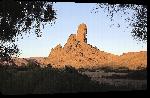 Toiles imprimées Photo rocher dans le désert du Sahara en algérie