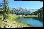 Toiles imprimées Photo lac de montagne dans les Alpes Autriche