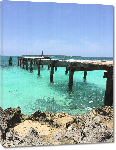 Toiles imprimées Photo ponton plage Bahamas