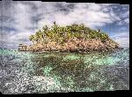 Toiles imprimées Photo petite ile au Bahamas