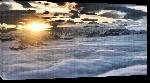 Toiles imprimées Photo coucher de soleil sur mer de nuage dans les alpes autriche
