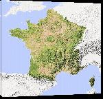 Toiles imprimées Carte des reliefs en France