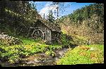 Toiles imprimées Photo d'un vieu moulin dans la campagne en Allemagne