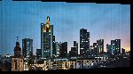 Toiles imprimées Photo de nuit de la ville de francfort en Allemagne