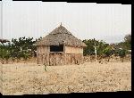 Toiles imprimées Phto maison hutte village en angola