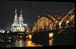 Toiles imprimées Photo de nuit du pont de cologne en Allemagne